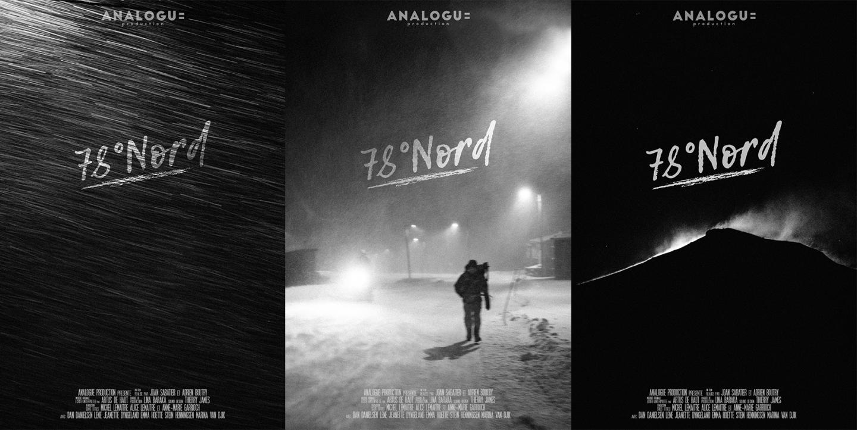 78 degré Nord - assemblages des 3 affiches du film